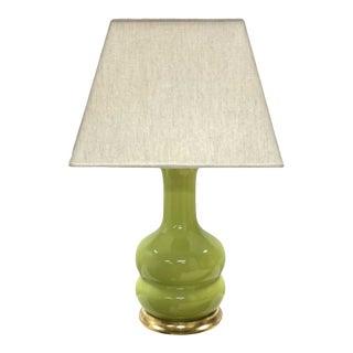 Christopher Spitzmiller Green & Gilt Ceramic Lamp