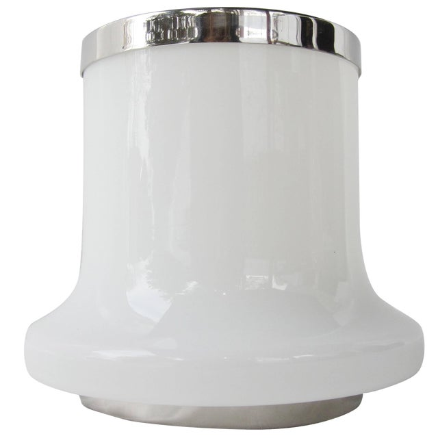 White Glass Table Lamp by Arredoluce For Sale
