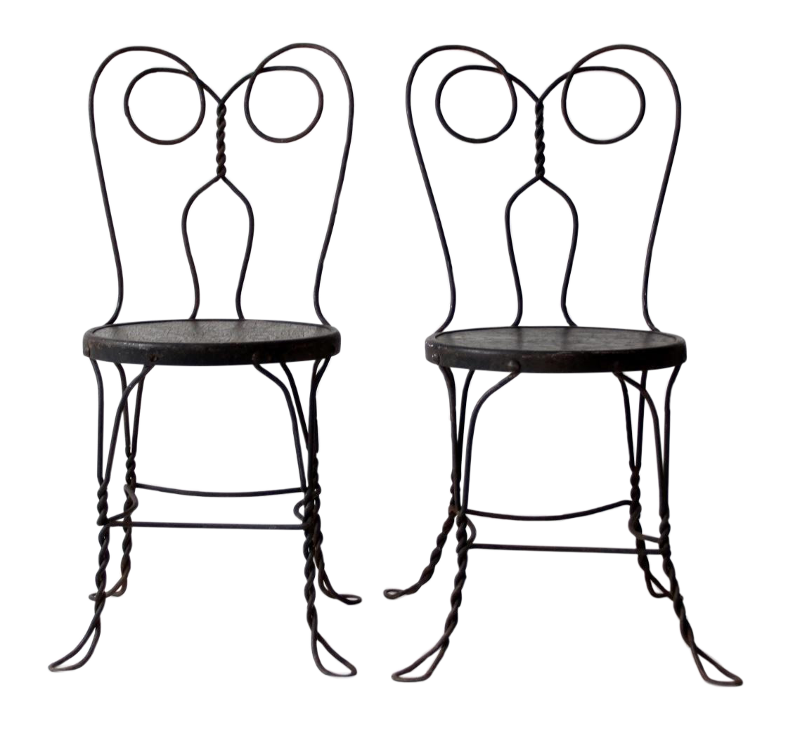 Ice Cream Parlor Chairs   A Pair