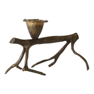 "1990s Robert Lee Morris ""Horizontal Walking Tree"" Candle Holder For Sale"