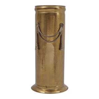 Vintage Brass Umbrella Stand by Peerage For Sale