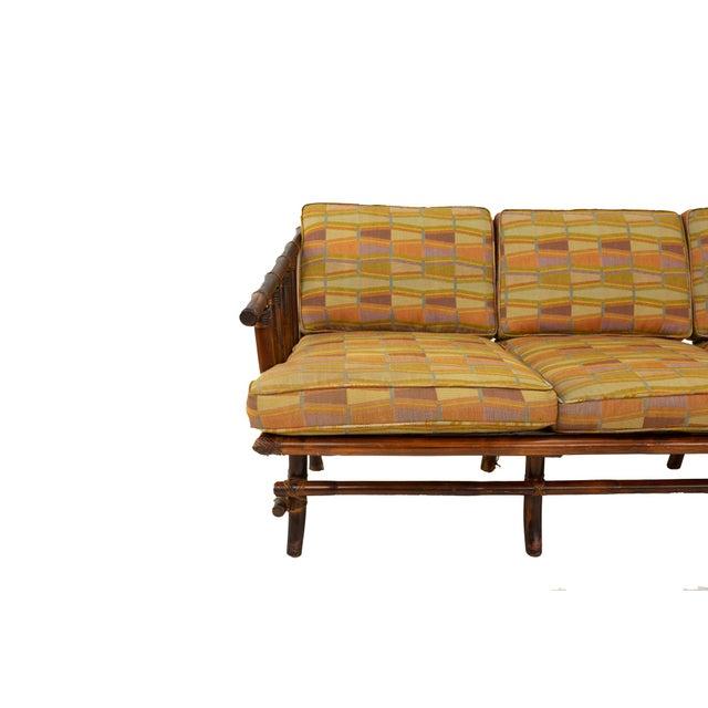 John Wisner John Wisner for Ficks Reed Style Bamboo Mid Century 3-Seater Sofa For Sale - Image 4 of 9