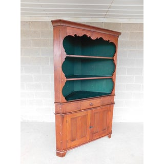 Antique 19th Century Pine 1 Piece Corner Cabinet Preview
