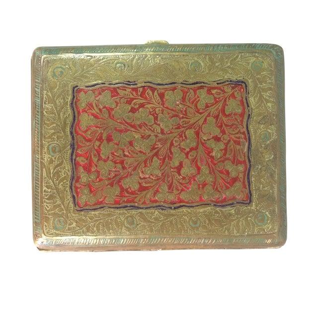 Antique Brass Cigarette Case - Image 1 of 5