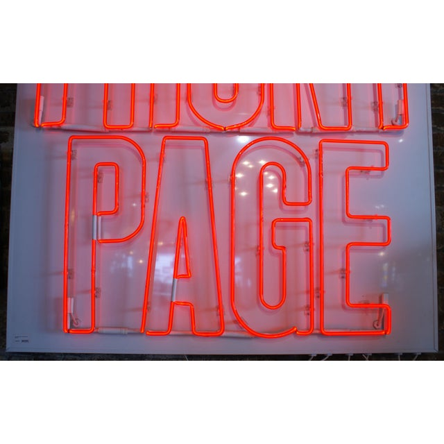 "Neon Sign ""The Front Page"" For Sale - Image 4 of 6"