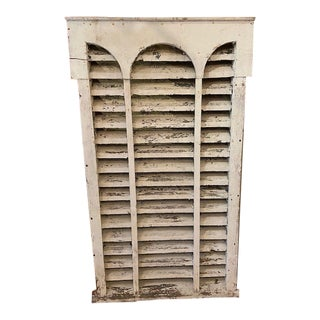 Farmhouse Architectural Wooden Louvered Vent For Sale