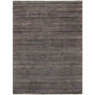 """Pasargad Black Silk & Wool Rug- - 9' 1"""" X 12' 2"""" For Sale"""