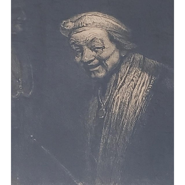 Early 20th Century Rembrandt Self Portrait Engraving For Sale - Image 5 of 8
