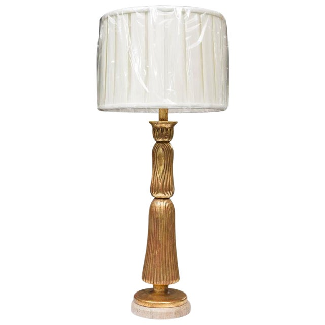 Giltwood Deco Style Table Lamp - Image 1 of 7