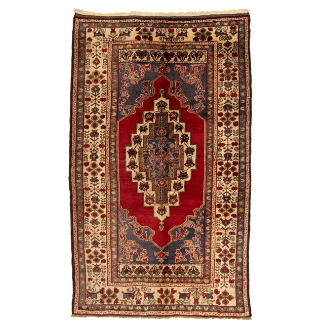 Vintage Turkish Red Rug For Sale - Image 9 of 9