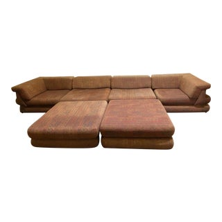 "Roche Bobois ""Mah Jong"" Mid Century Sectional Sofa by Hans Hopher For Sale"