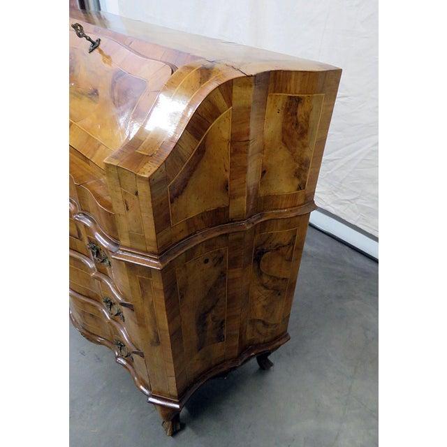 Vintage Olivewood Secretary Desk For Sale In Philadelphia - Image 6 of 11