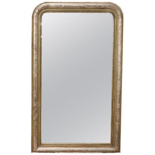19th Century Italian Golden and Silver Wood Antique Wall Mirror For Sale - Image 13 of 13