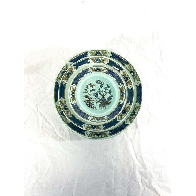 Asian Wedgwood Ironstone Ming Toi Dinnerware, Set of 12 For Sale - Image 3 of 8