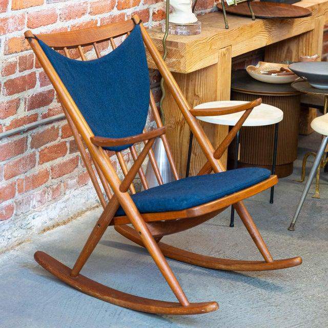 Mid 20th Century Bramin Mobler Danish Teak Rocking Chair For Sale - Image 5 of 5