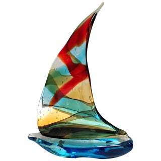 Sailboat Sculpture by Sergio Constantini For Sale