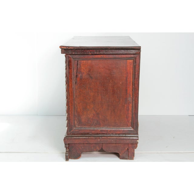 18th Century Spanish Walnut Chest For Sale In Dallas - Image 6 of 12