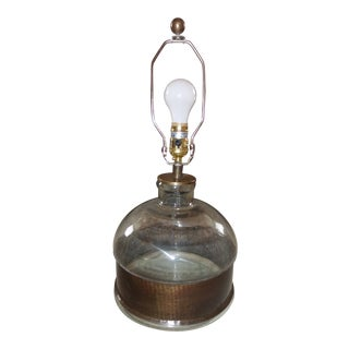 Arteriors Garrison Jug Vintage Brass Glass Table Lamp For Sale