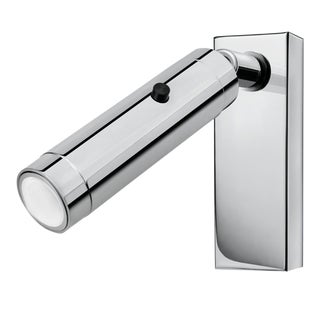 Polished Chrome Led Focus Wall Reading Light With Rectangular Backplate For Sale