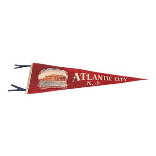 Atlantic City Tourist Pennant For Sale