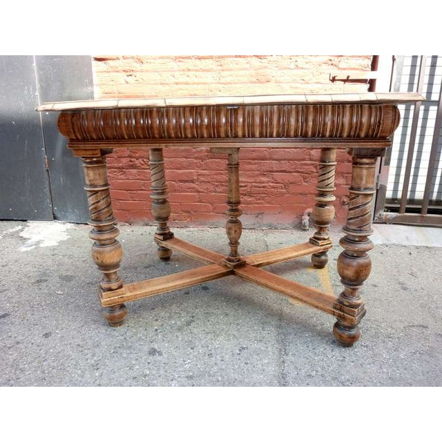 1900's Antique Italian Library/Sofa Table - Image 3 of 5