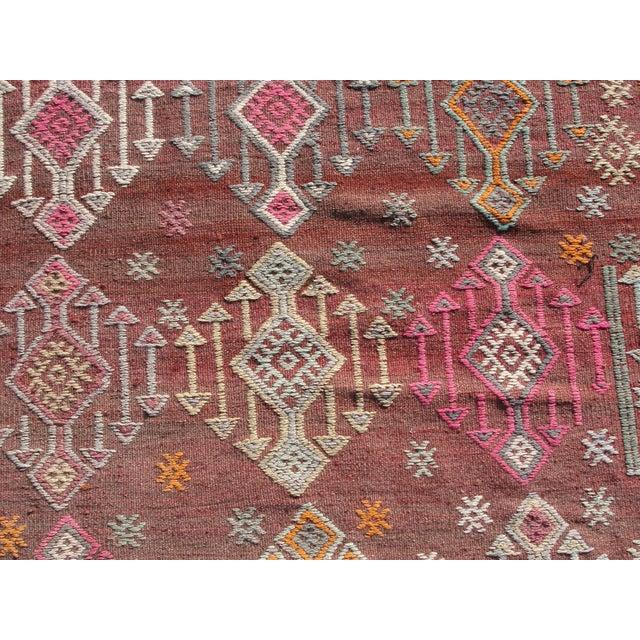 Vintage Turkish Kilim Rug - 5′5″ × 8′8″ For Sale - Image 5 of 11