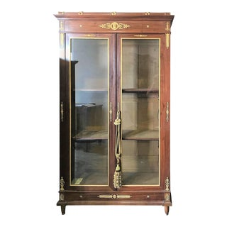 19th Century French Empire Display Cabinet Bookcase For Sale