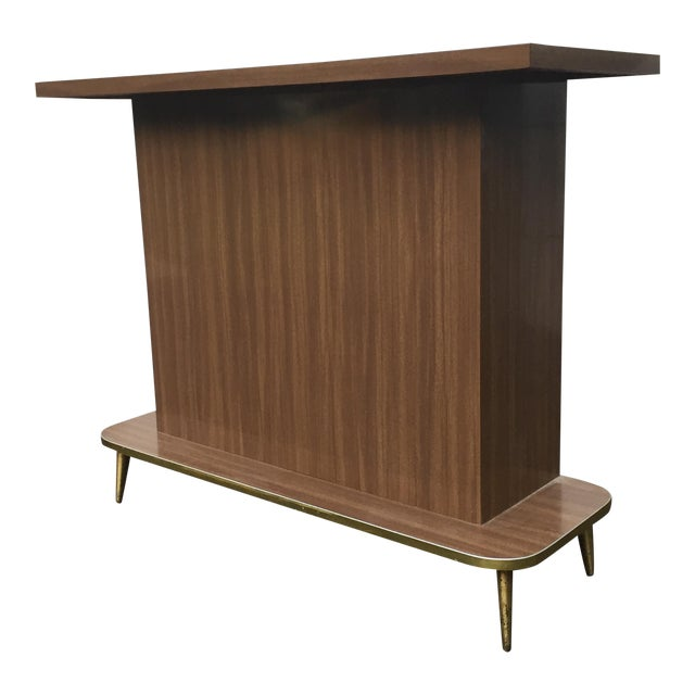 Mid-Century Modern Faux Wood Dry Bar - Image 1 of 11