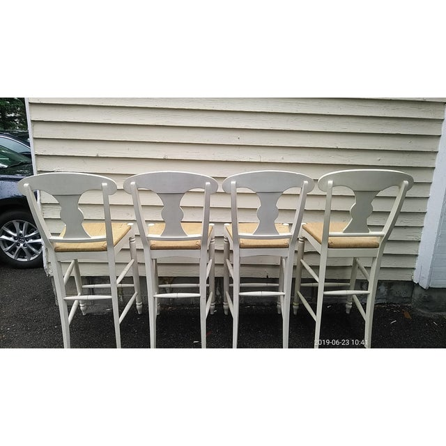 Set of 4 purchased new in 2009. Handcrafted in Ethan Allen's North American workshops. This is a country version of a...
