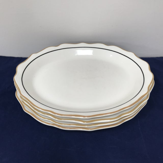 Mid 20th Century 20th Century Traditional Syracuse Oval Ivory Serving Plates - Set of 4 For Sale - Image 5 of 10