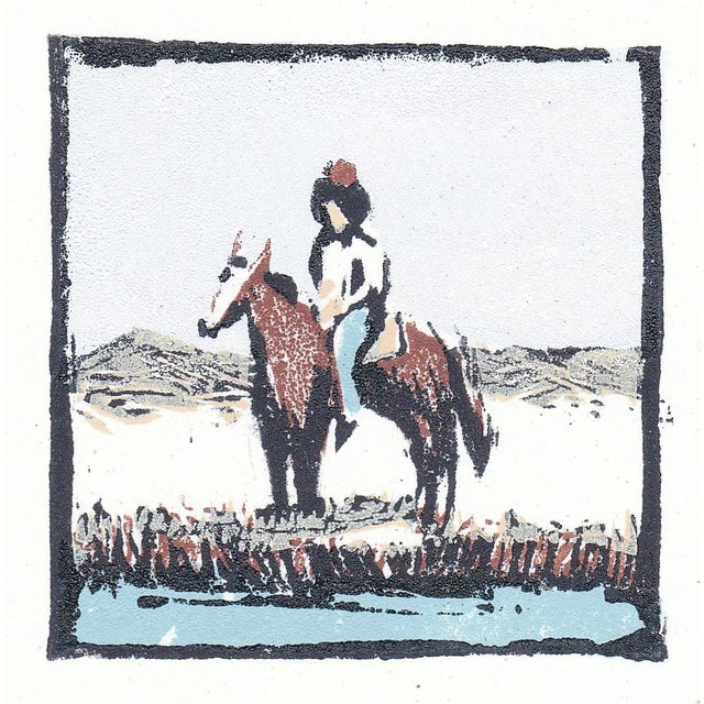 """2010s """"Frontier"""" Limited Edition Woodblock Print by Michelle Farro For Sale - Image 5 of 7"""