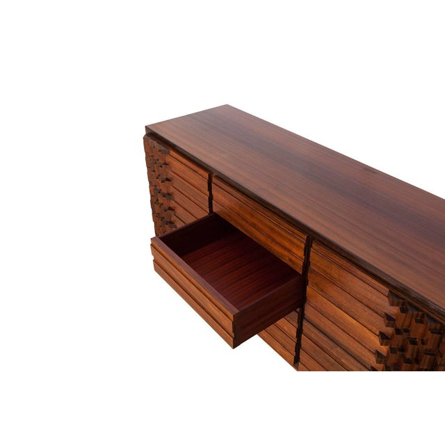 Brown Luciano Frigerio Chest of Drawers in Walnut For Sale - Image 8 of 12