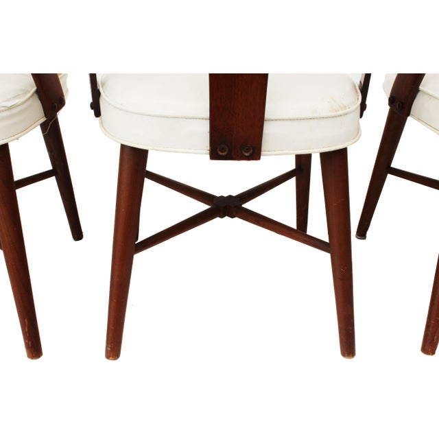 Mid Century Walnut Dining Chairs by Lawrence Peabody for Richard Nemschoff - Set of 6 - Image 3 of 6