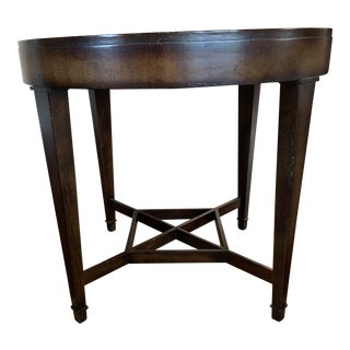 Baker Furniture Collection Milling Road Round Drum End Table For Sale