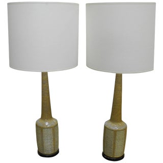 Pair of Danish Modern Palshus Ceramic Lamps for Hansen For Sale