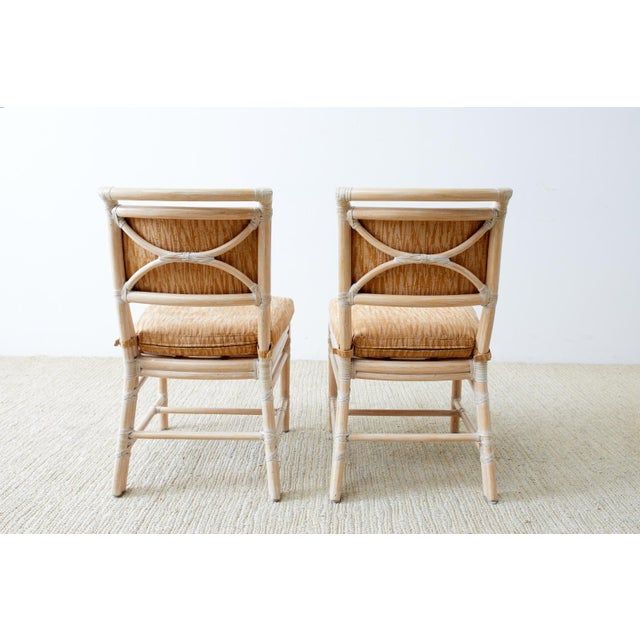 McGuire Cerused Rattan Dining Chairs- Set of 9 For Sale - Image 12 of 13