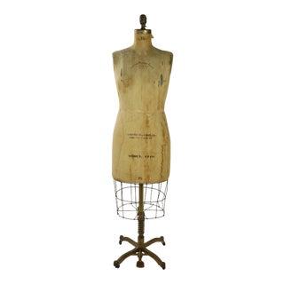 Vintage Antique Mannequin Dress Form Model For Sale