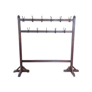 Vintage Floor Standing Coat Rack For Sale
