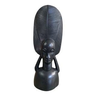Vintage African Ebony Wood Sculpture For Sale