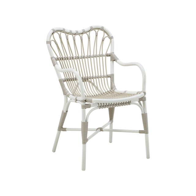 White Margret Exterior Dining chair - Dove White For Sale - Image 8 of 8