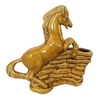 Mid-Century TV Lamp Base with Rearing Horse