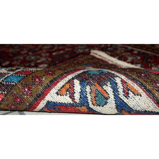 Vintage Persian Hamadan Runner- 2′7″ × 7′ For Sale - Image 10 of 10