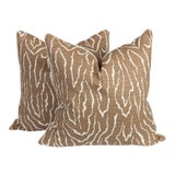 Image of Faux-Bois Linen Pillows, a Pair