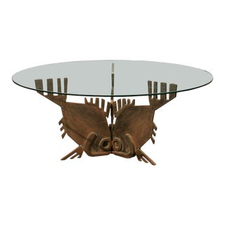 "Italian Bronze ""Tre-Pesci"" Coffee Table For Sale"