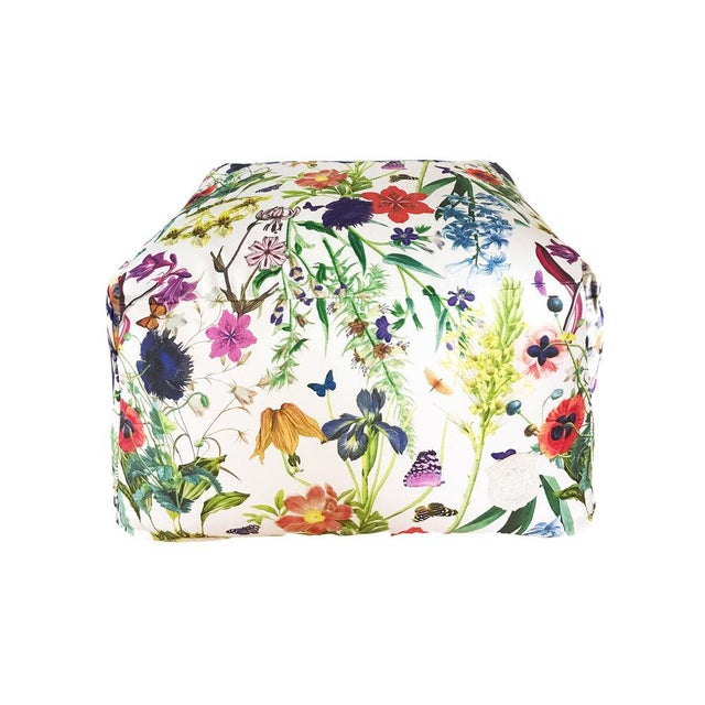 Floral Fantasy Pouf For Sale - Image 5 of 5