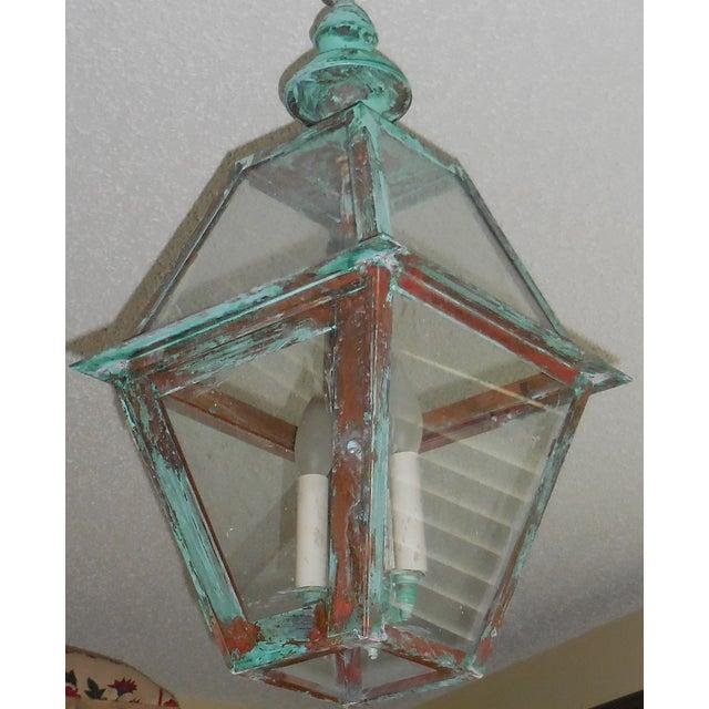 Rustic Copper Hanging Lantern - Image 5 of 10