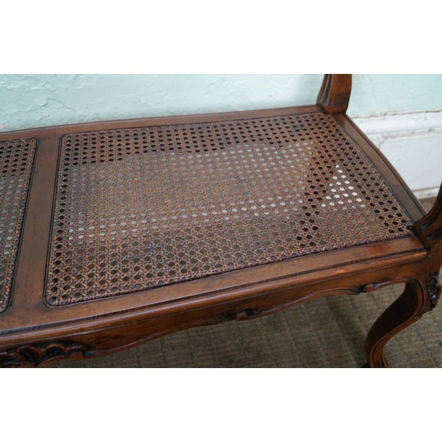 Italian Made French Louis XV Style Cane Seat Bench - Image 10 of 10