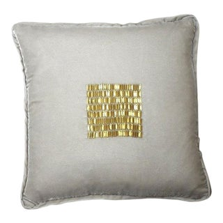 Talini Italian Beaded Velvet Pillow For Sale