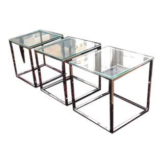 Cb2 Smart Chrome Side Tables - Set of 3