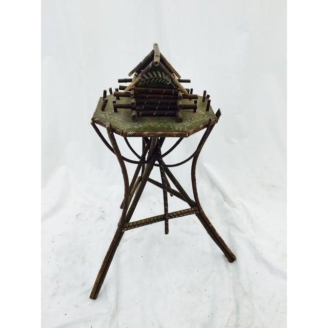 Folk Art Twig Game Table - Image 3 of 7